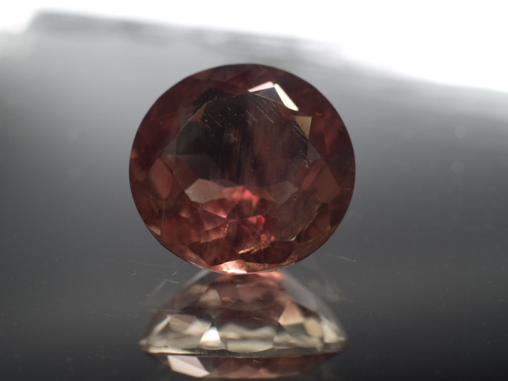 5.45 Carats, 12mm Round, red Oregon Sunstone