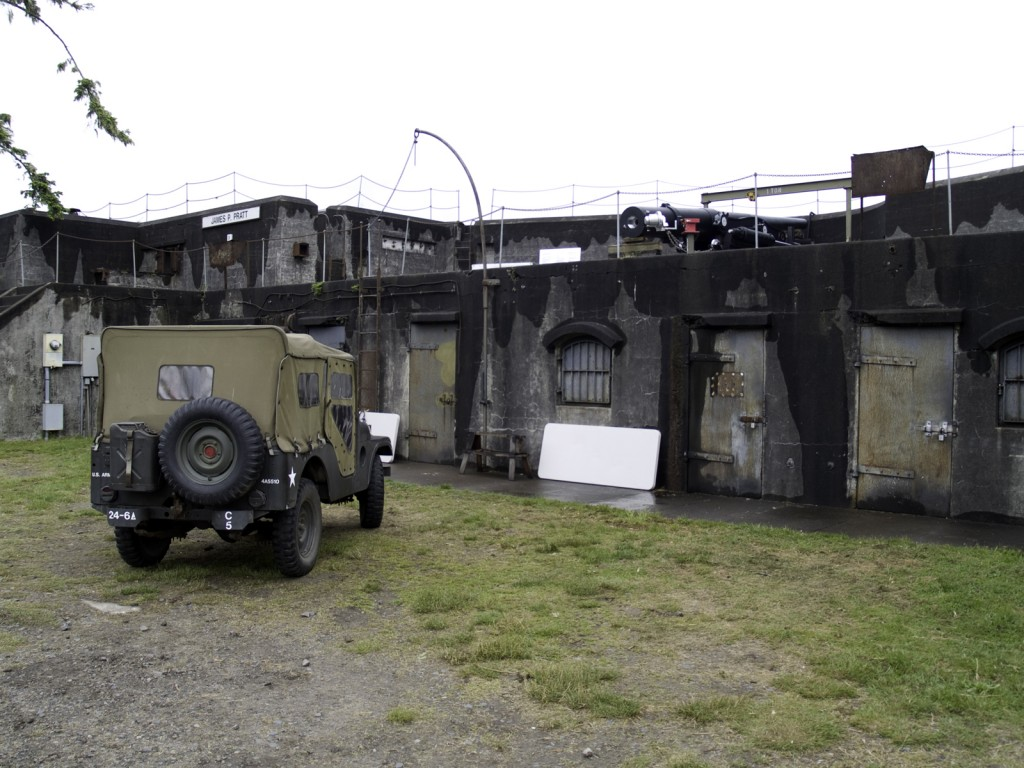 Battery Meriwether with restored gun at Fort Stevens