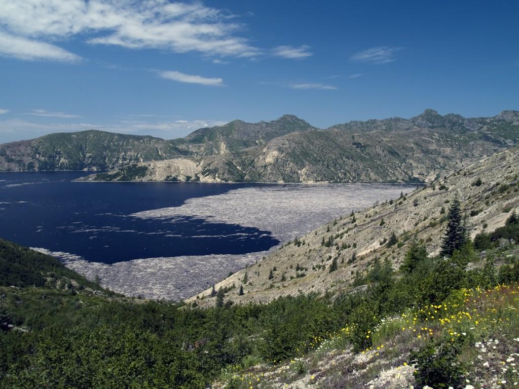 Spirit Lake on Mt. St. Helens