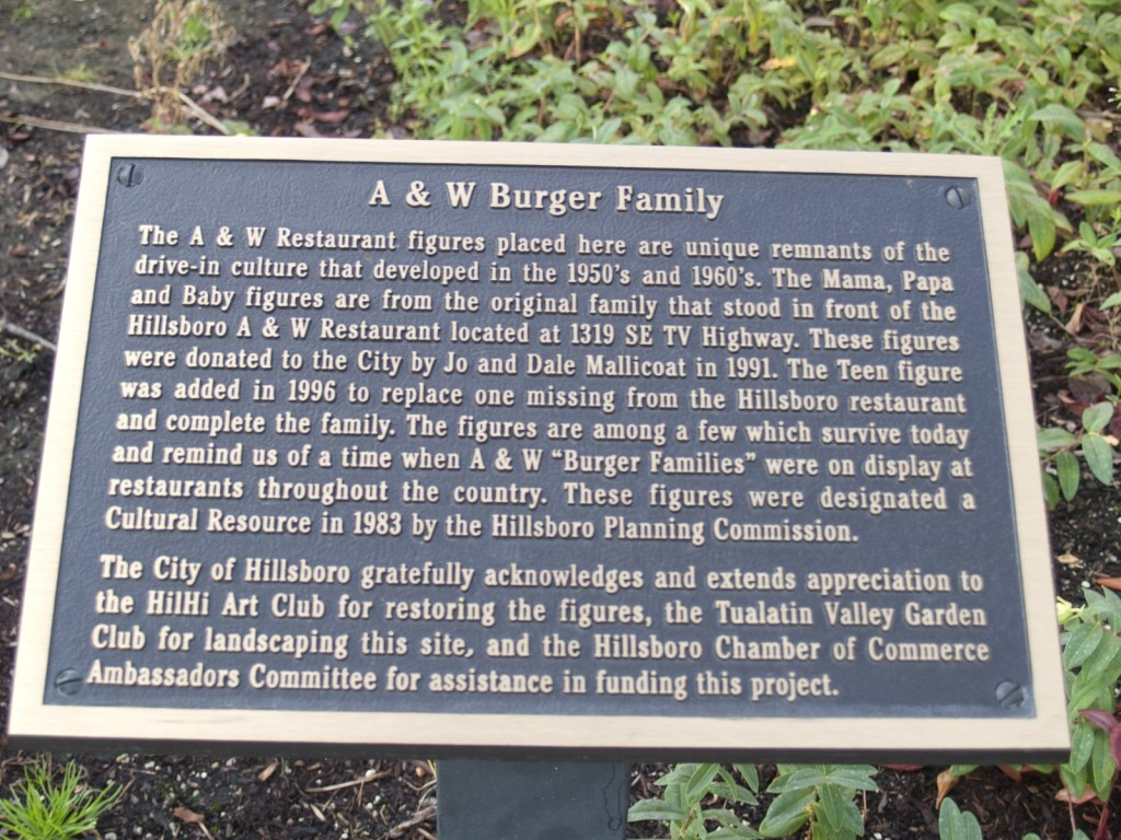 A&W Family Plaque