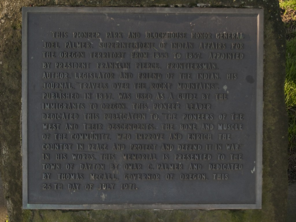 Fort Yamhill History Plaque