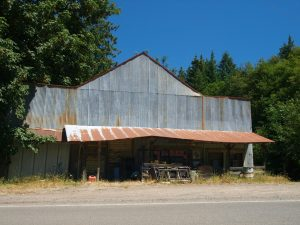 Tin Sided building in Timber Oregon