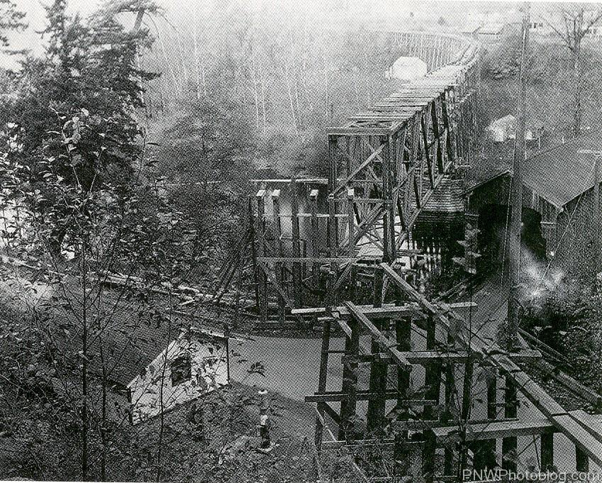 Clackamas and Eastern Railroad Bridge at Carver, Oregon