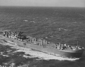 USS LST-263 under way, October 19 1943, location unknown - Photo by David Kerr, US National Archives photo # 80-G-411655