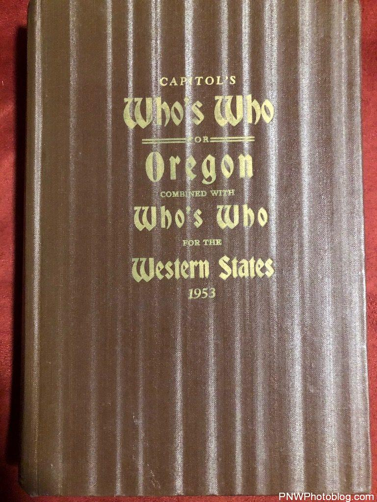 Capitols - State Who's Who for Oregon - 1953 - Cover